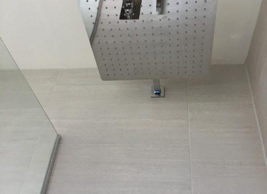 Wet room shower drench head- bathroom installers Bridgwater